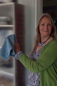 Julia Waterlow cleaning
