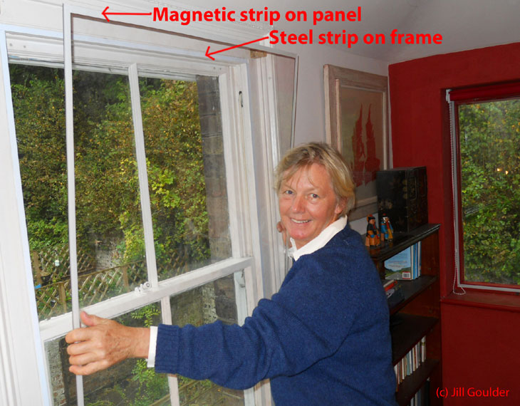 Magnetic-strip secondary glazing