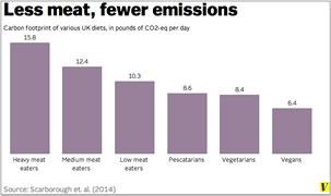 Less meat, fewes emissions